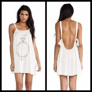 Wildfox Put A Ring On It Tank Dress Small